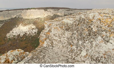 Mangup plateau in Crimean mountains