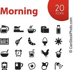manhã, ícones
