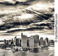 manhattan épület, new york