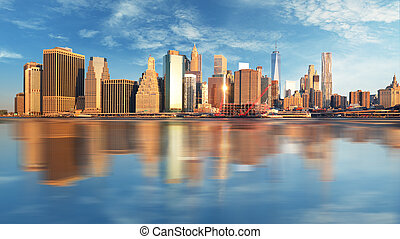 Manhattan at sunrise, New York