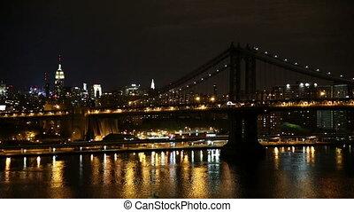 Manhattan Bridge at Night