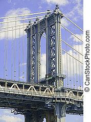 manhattan bridzs, új york város