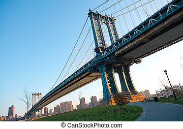 manhattan bridzs, új york város, usa