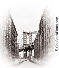 manhattan bridzs, new york, usa