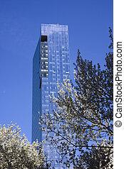 Manhattan building closeup