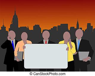 Manhattan business team