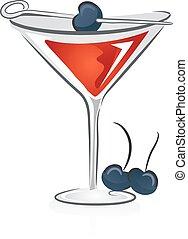 Manhattan Cocktail Illustration - Illustration of Manhattan ...