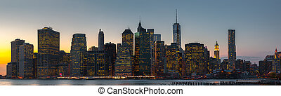New York City skyline panorama