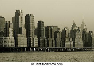 Manhattan in retro
