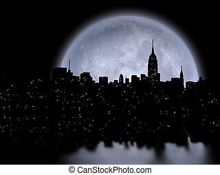 manhattan, luna llena