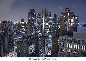 manhattan, new york city, dachenden