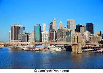 Manhattan New York City skylin