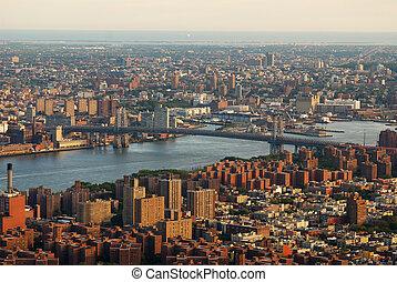 manhattan, nieuw, stad, york