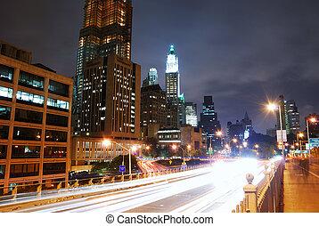 MANHATTAN NIGHT VIEW, NEW YORK CITY