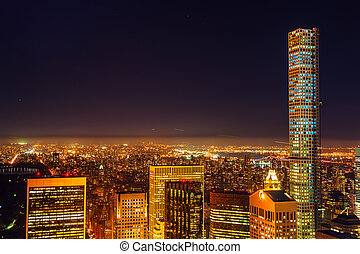 Manhattan, NYC, at night