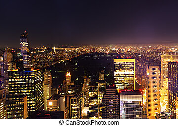 Manhattan, NYC, at night