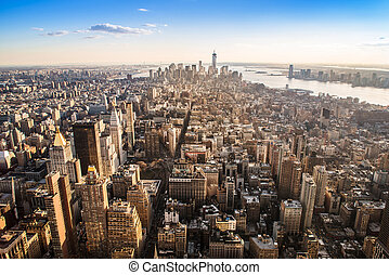 manhattan - view from the top of the empire state building...