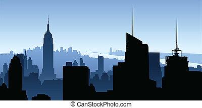 manhattan, rascacielos
