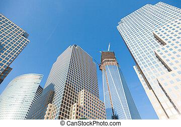 Manhattan skycrapers, New York - USA