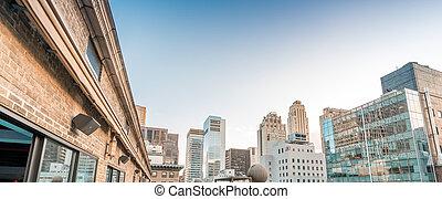 Manhattan skyline. Buildings and skyscrapers of New York ...