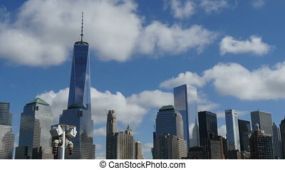 Manhattan Skyline New York view fro