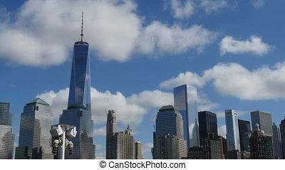 Manhattan Skyline New York view fro
