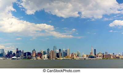 Manhattan skyline - New York City with Manhattan skyline...