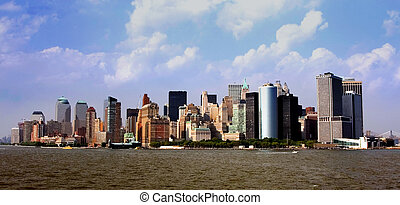 Manhattan Skyline - View of the Manhattan skyline as seen ...