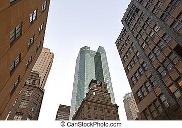 Manhattan skyscapers - Manhattan skyscrapers in New York...