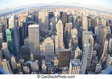 manhattan view from the top - new york