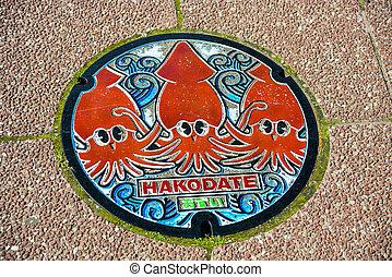 Manhold cover in Hakodate Japan