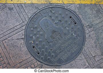 Manhole Cover in Merida, Yucatan