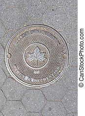 Manhole Cover in New York, New York