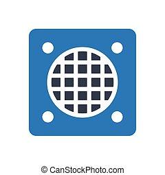 manhole glyph color icon