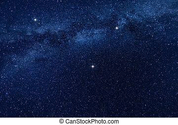manière, fond, étoiles, laiteux