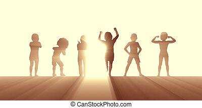 manière vivre active, enfants