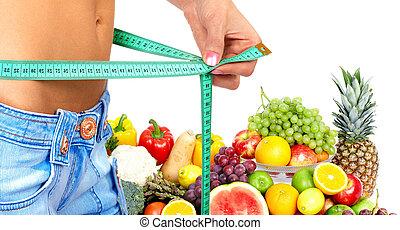 manière vivre saine, et, diet.