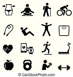 manière vivre saine, fitness, régime