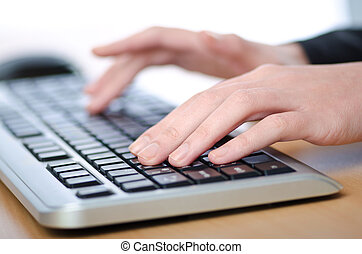 mani, dattilografia, tastiera