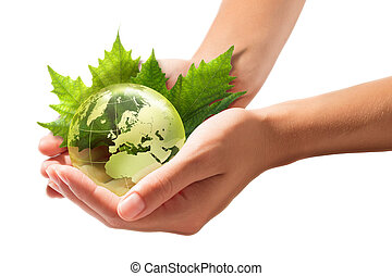 mani, -, europa, mondo, verde