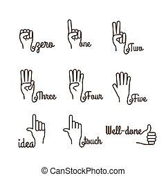 mani, gesto