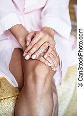 mani, ginocchia