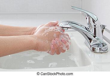 mani, lavaggio