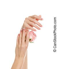 mani, manicure, bello