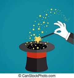 mani, presa a terra, bacchetta magica, maghi, cartone animato