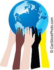 mani sulla terra