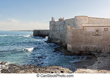 Maniace Castle in Ortygia Island - Syracuse