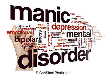 Manic disorder word cloud concept