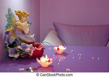 manicura, habitación, en, un, moderno, salón de belleza