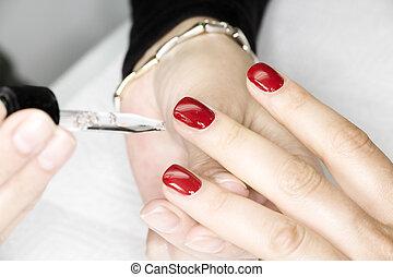 manicura, proceso